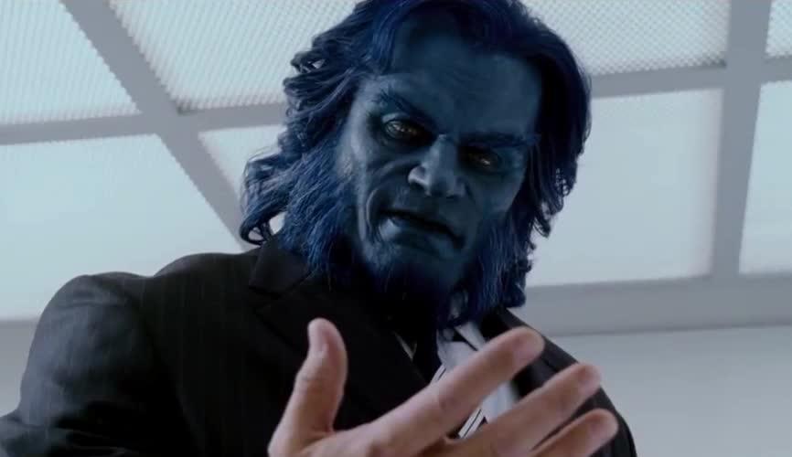 again, avengers, beast, hand, human, look, shock, surprise, wow, x men, x-men, xmen, Evolution of the Beast GIFs
