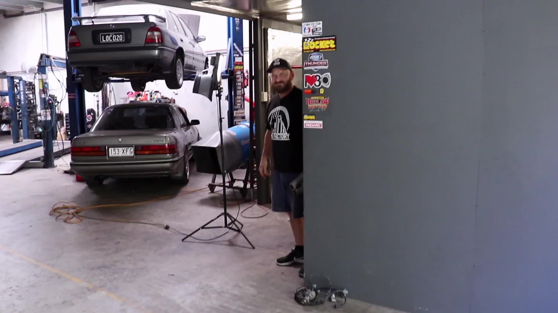 2nd, alan, car, channel, mcm, mcmtv2, mighty, mightycarmods, mods, skid factory, woodie, Alan places grandpa in the bin GIFs