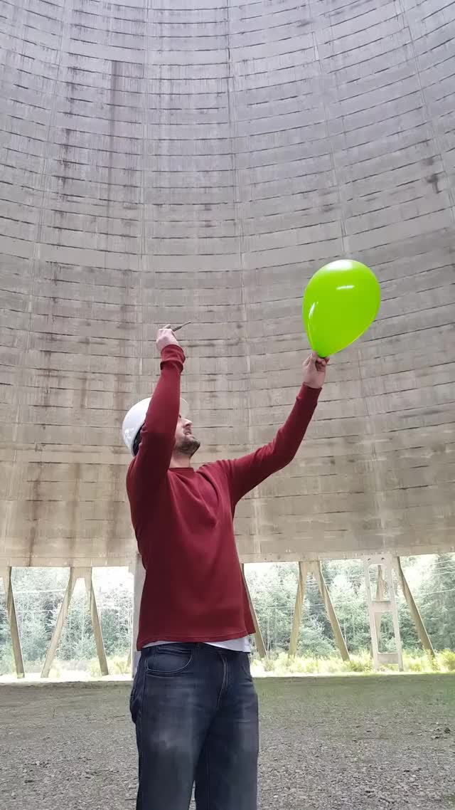 Watch and share Popping A Balloon Inside A Nuclear Power Plant Cooling Tower. GIFs by Jackson3OH3 on Gfycat