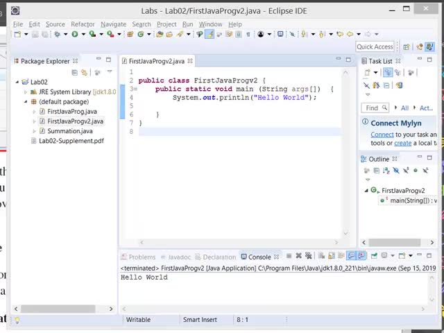 Watch and share CS140 Lab02 FirstJavaProg Eclipse GIFs by Evan Wu on Gfycat