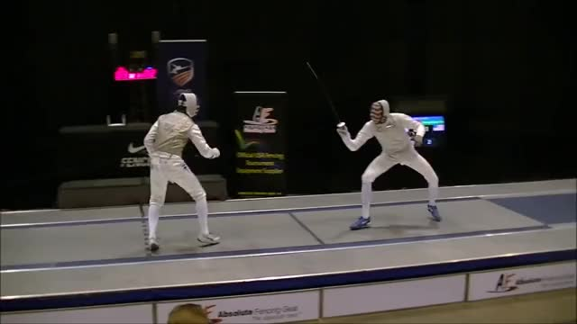 Watch and share Point Right GIFs and Fencing GIFs by Stuff on Gfycat