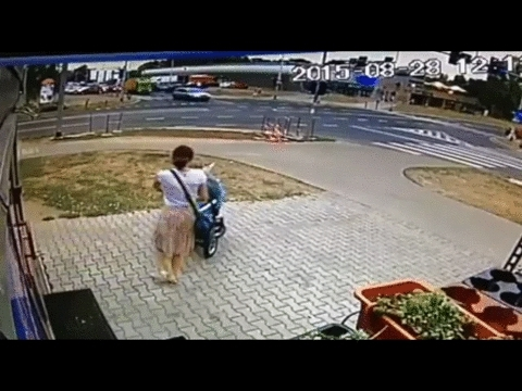 maybemaybemaybe, Women almost lost her child in an accident (reddit) GIFs