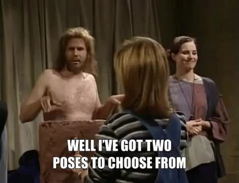 saturday night live, sculpture class, snl, terrence maddox, thinker or stinker, will ferrell, Thinker or Stinker Terrence Maddox Will Ferrell SNL GIFs