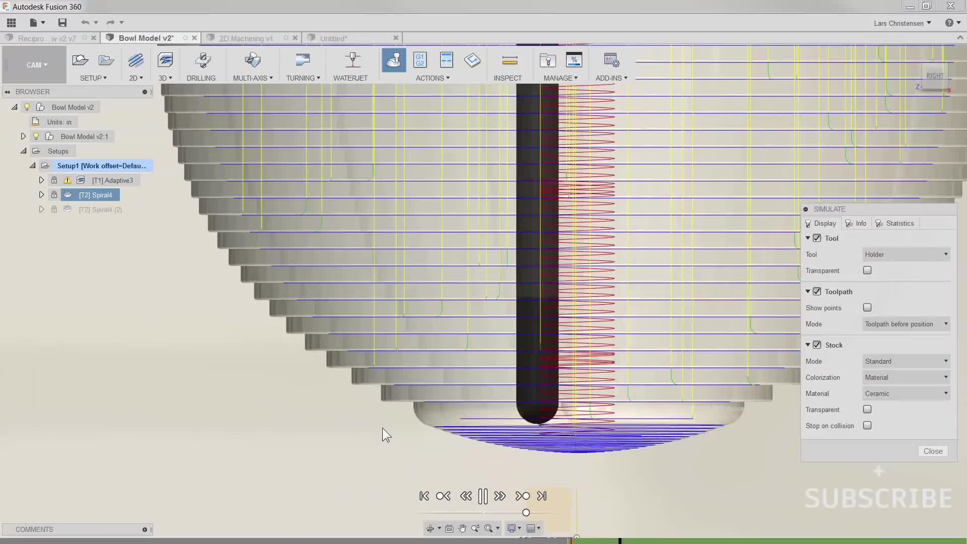 3 D Machining Stepover Examples