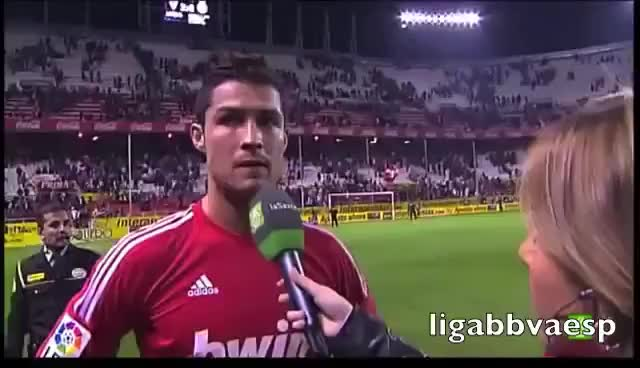 Watch Declaraciones de Cristiano Ronaldo - R.Madrid-Sevilla - 17-12-11 GIF on Gfycat. Discover more related GIFs on Gfycat