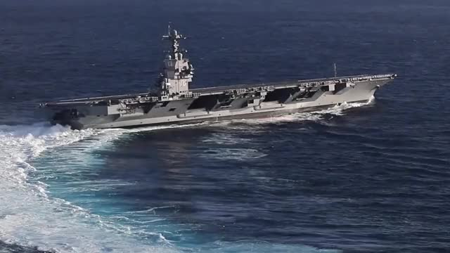 Watch and share USS Gerald R. Ford Conducts High Speed Turns GIFs by @VICTOR196331 on Gfycat
