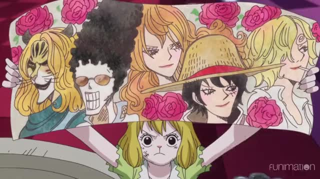 Watch Mirror Mirror GIF by Funimation (@funimation) on Gfycat. Discover more One Piece, One Piece episode 821, OnePiece, anime, ep821, funimation, funny GIFs on Gfycat