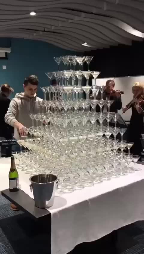 Watch WCGW if I build a champagne tower GIF by Blackbada (@blackbada) on Gfycat. Discover more WCGW, champagne GIFs on Gfycat