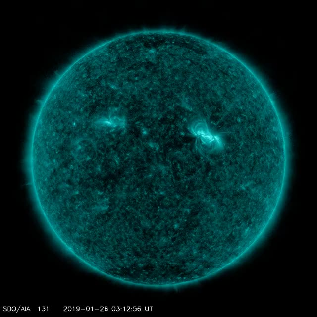 Watch and share C5.0 Solar Flare January 26, 2019 GIFs by The Watchers on Gfycat