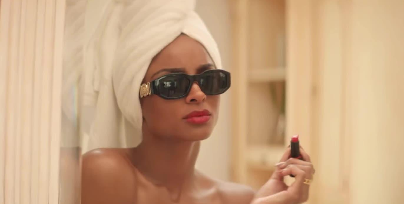 I, I love you, aww, bath, bathroom, bout, ciara, draw, heart, hearts, lipstick, love, mirror, note, sunglasses, thanks, thinkin, u, you, Ciara - Thinkin Bout You GIFs