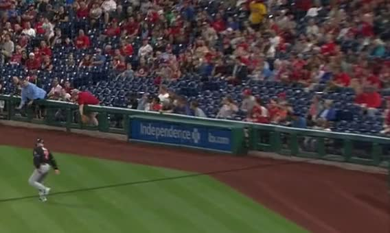 Watch marlins perry hill backpedal GIF by Ely Sussman (@realely) on Gfycat. Discover more backpedal, baseball, coach, funny, highlights, marlins, mlb, perry hill, philadelphia, phillies, walk GIFs on Gfycat