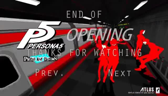 Persona 5 - Opening Intro [ PS4 ]