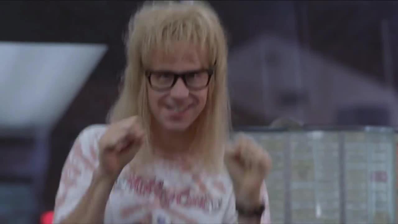 Foxy Lady, Garth, Wayne's world, Garth Dance GIFs
