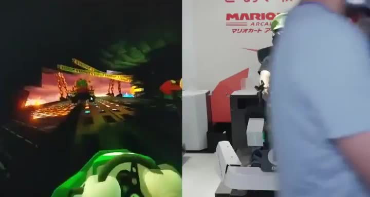 Mario Kart VR looks awesome GIFs