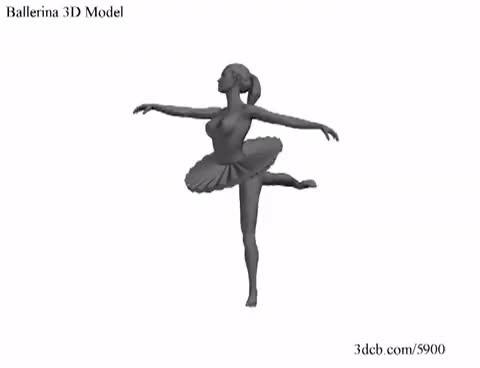 Watch and share Ballerina 3D Model GIFs on Gfycat