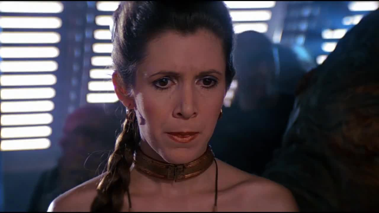 Star, leia, slave, wars, nervous princess GIFs