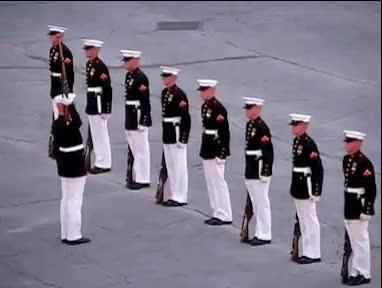 Incredibly rare Marine Silent Drill Team error. (i..com) GIFs