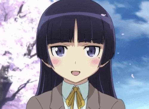 anime, kuroneko, my gif, ore no imouto ga konnani kawaii wake ga nai, oreimo, ruri gokou,  GIFs
