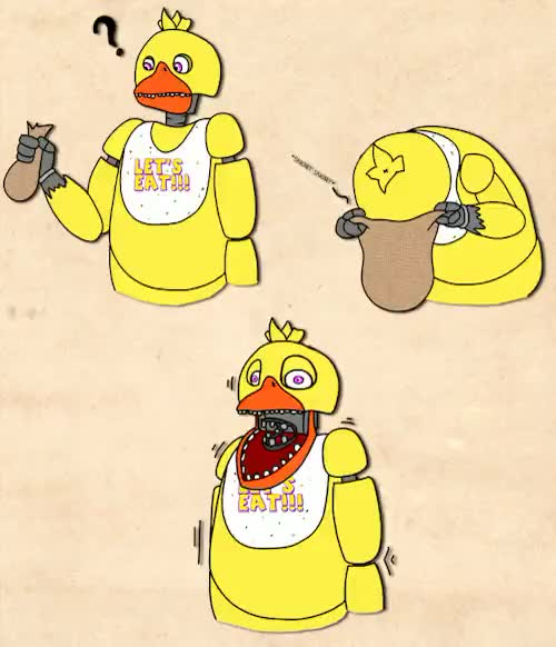 Watch and share Chica The Chicken GIFs and Scott Cawthon GIFs on Gfycat
