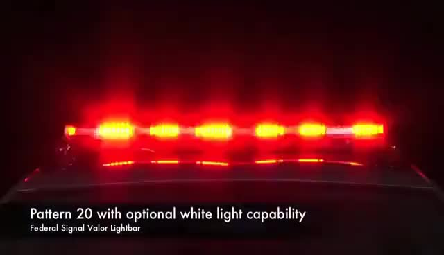 Watch and share Federal Signal Valor Lightbar Flash Patterns With Optional White Light Capability GIFs on Gfycat