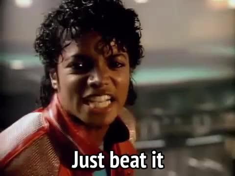 beat it, michael jackson, music, thriller, Michael Jackson - Just Beat It GIFs