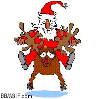 Watch and share Santa And Reindeer GIFs on Gfycat