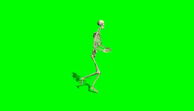 Watch and share Skeleton Runs - Green Screen Effect GIFs on Gfycat