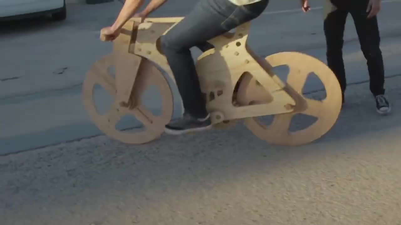 Engineering, STEM, diwhy, diy, engineer, maker, steam, thehacksmith, ALL WOOD BIKE - Will It Survive? GIFs