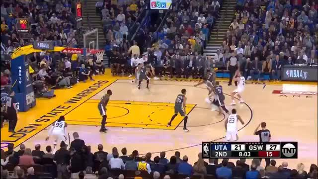 Watch this GIF on Gfycat. Discover more Golden State Warriors, Utah Jazz, basketball GIFs on Gfycat