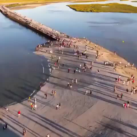 Watch and share ⠀ Striking Timelapse Of The Tides At Mont St-Michel 🇫🇷⠀ GIFs by Jackson3OH3 on Gfycat