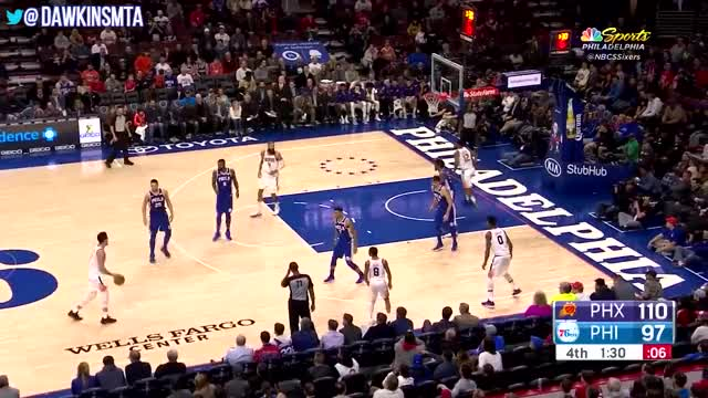 Watch Devin Booker Full Highlights 2017.12.04 at Sixers - UNREAL 46 Pts, CRAZY Shooting! GIF by Razzball (@razzball) on Gfycat. Discover more Highlights, basketball, dawk, dawkins, dawkinsmta, ins, nba, videos GIFs on Gfycat