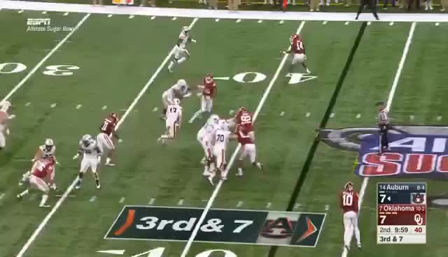 Watch and share Oklahoma Vs Auburn 2017 Sugar Bowl | 1-2-2017 | Full Game HD GIFs on Gfycat
