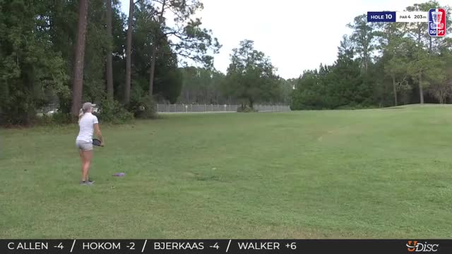 Watch 2018 Disc Golf Pro Tour Championship - Catrina Allen hole 10 approach GIF by Benn Wineka UWDG (@bennwineka) on Gfycat. Discover more Sports, dgpt, disc golf, disc golf pro tour GIFs on Gfycat