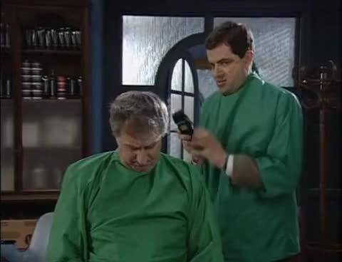 mr bean, rowan atkinson, Mr Bean, Hair by Mr Bean GIFs