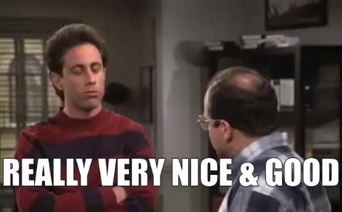 good, good job, great, jerry seinfeld, nice, really, seinfeld, very nice, Really Good Nice Seinfeld GIFs
