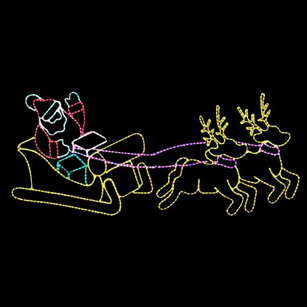 Watch and share Santa Sleigh GIFs on Gfycat