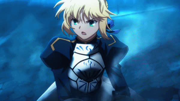 Fate, Saber, anime, animegif, animegifs, Saber fighting GIFs