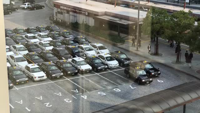 Watch Taxis in Japan line up in an orderly fashion to pick up passengers GIF on Gfycat. Discover more simpering_bunny GIFs on Gfycat