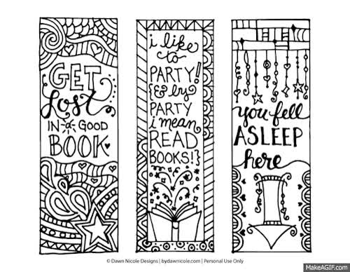 picture relating to Cute Bookmarks Printable identified as Totally free Printable Coloring Site Bookmarks:http://bydawnnicole.c