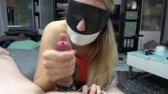 blindolded & Tape Gagged Thrall Tugjob By Sophie Summers