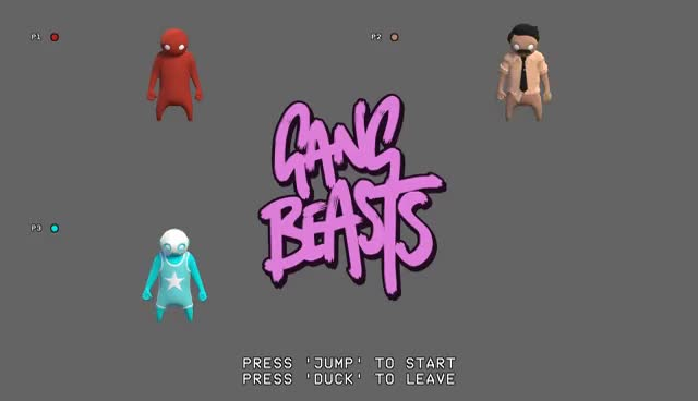DON'T FIGHT OVER ME - Gang Beasts - Ep 1 - NateWantsToBattle and Dookieshed ft. ShadyPenguinn GIFs