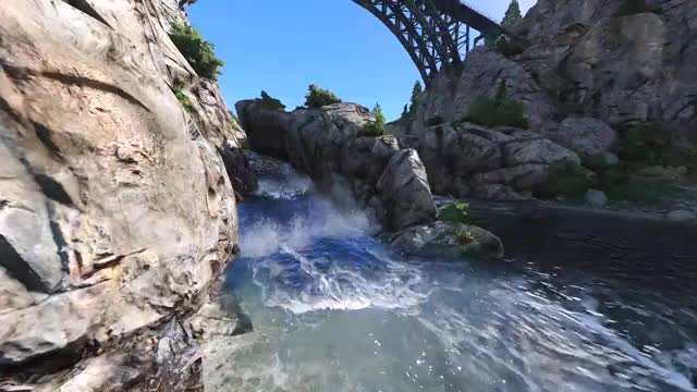 Watch GTAV | Waterfall | Cinematic GIF on Gfycat. Discover more grandtheftautov, thelastofus GIFs on Gfycat