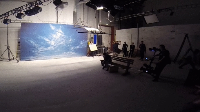 DaftPunk, damnthatsinteresting, Behind the scenes of a clever ad (wait for it) [x-post r/woahdude] (reddit) GIFs