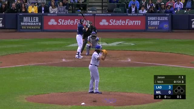 Watch and share Los Angeles Dodgers GIFs and Milwaukee Brewers GIFs by Michael Ajeto on Gfycat