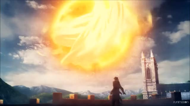 Watch explosion GIF by Funimation (@funimation) on Gfycat. Discover more anime, tales of zestria the x, talesofzestriathex, zestria GIFs on Gfycat