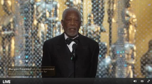 Watch Morgan Freeman - Oscars 2016 GIF by Funny GIFs (@gnchau) on Gfycat. Discover more morgan freeman, oscars, present GIFs on Gfycat