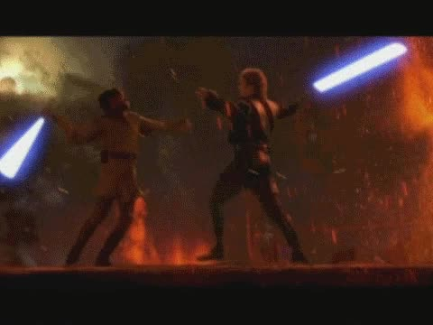 Watch and share Anakin Vs Obiwan GIFs on Gfycat