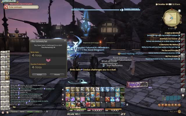 Watch and share Hyperion Vs Exodus Ninja Fight Ffxiv GIFs by Dusty Muffin on Gfycat