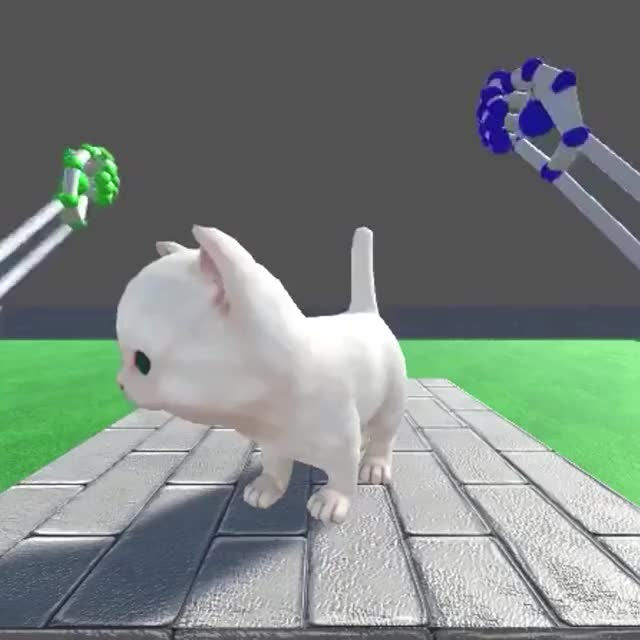 Watch and share OMG A KITTY #VR GIFs by Gaming on Gfycat