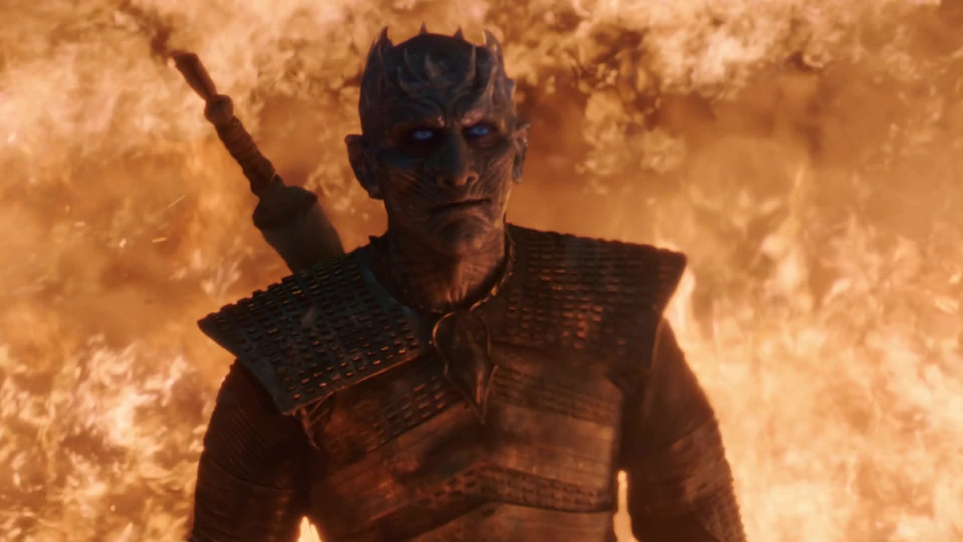 flames, game of thrones, night king, Night King Game of Thrones GIFs